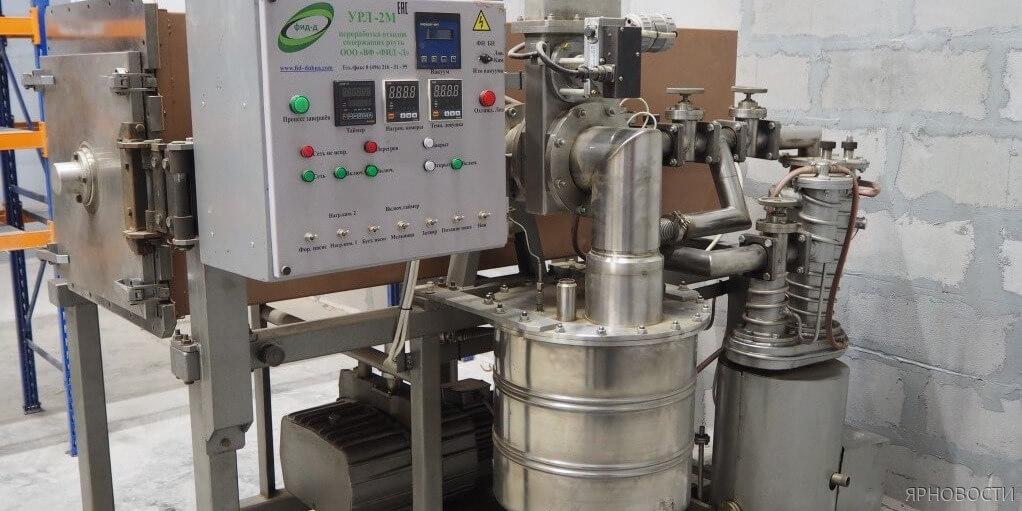В области введена в эксплуатацию первая установка по переработке батареек